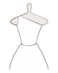 asymmetrischer Halsausschnitt