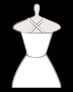 Kleid mit Kreuz-Träger