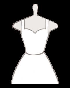 Hochzeitskleid Herzausschnitt