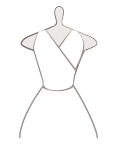 Brautkleid mit Faux Wrap