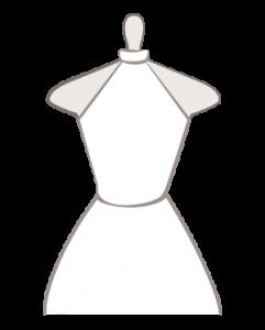 Hochzeitskleid mit Kragen