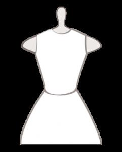 T-Shirt-Ausschnitt Hochzeitskleid
