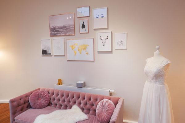 Umkleideraum für Brautkleider und Hochzeitskleider