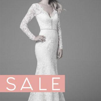 Hochzeitskleid langärmlig Vintage Spitze