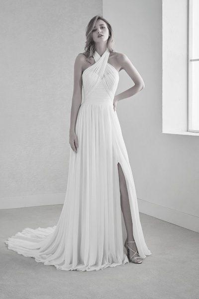 Brautkleid faux-wrap