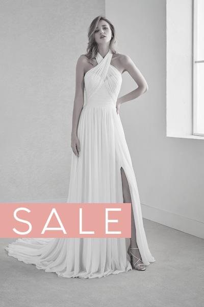 Brautkleid mit Neckholder - SALE