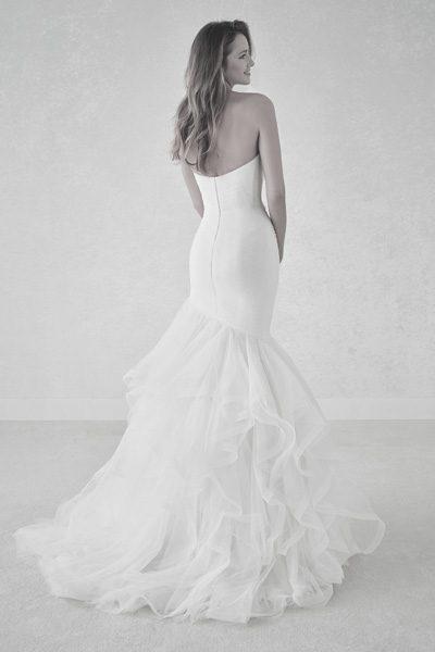 Hochzeitskleid im Meerjungfrau Schnitt
