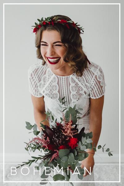 Hochzeitskleid im Bohemian Stil