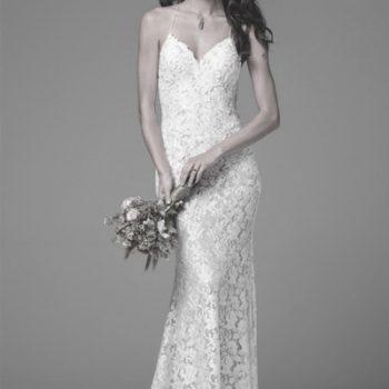 Kleid in H-Linie - Brautmode