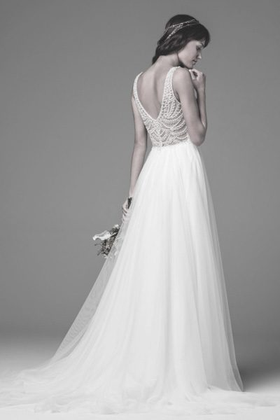 Brautkleid Locket mit Perlen