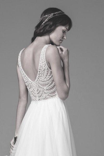 Brautkleid - Oberteil mit Perlen