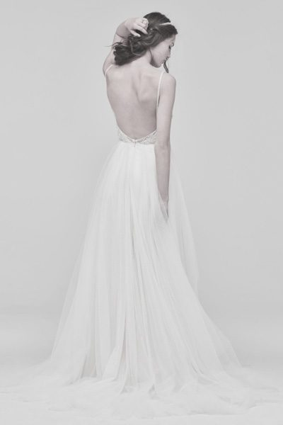 Elegantes, rückenfreies Brautkleid