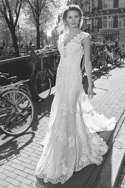 Vintage Brautkleid Tatoo Spitze