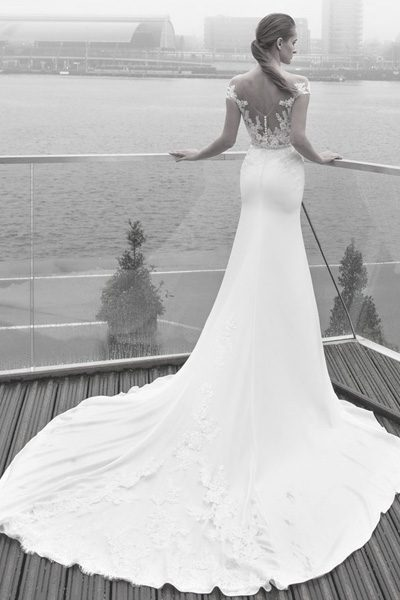 Kleid im Schnitt Trompete - Vinatge