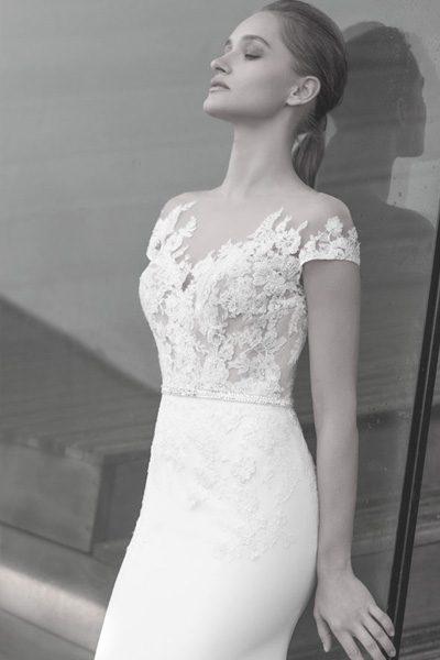 Vintage Hochzeitskleid kurze Ärmel