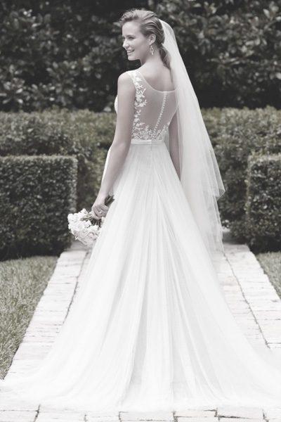 Hochzeitskleid transparenter Rücken
