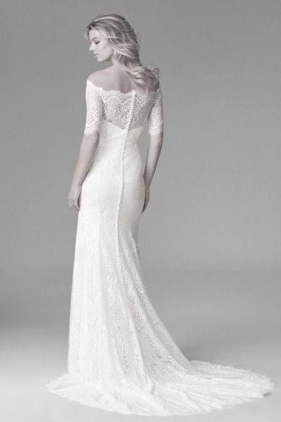 Brautkleid mit Carmen-Ausschnitt