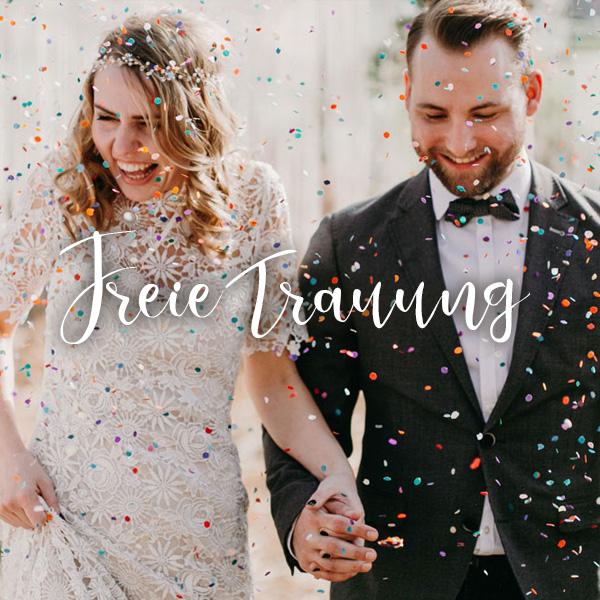 Brautpaar nach der Zeremonie