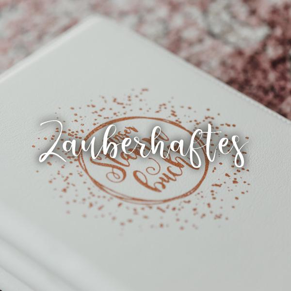 edel designte Stammbücher-Hochzeitsartikel