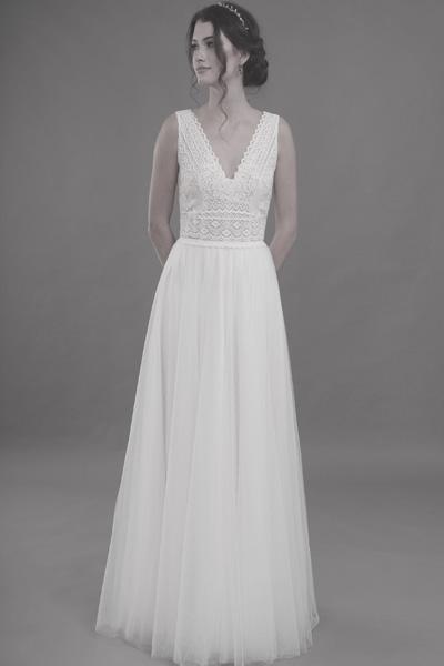 Brautkleid - oben Spitze unten Tüll