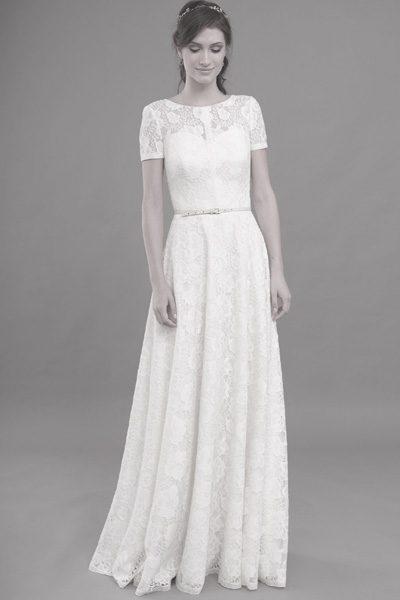Hochzeitskleid komplett aus Vintage-Spitze