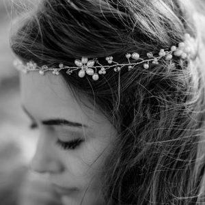 Headpieces mit silbernen, goldenen oder kupfernen Schmuck