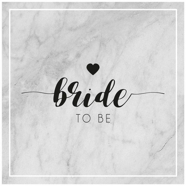 Bride To Be auf Marmorhintergrund