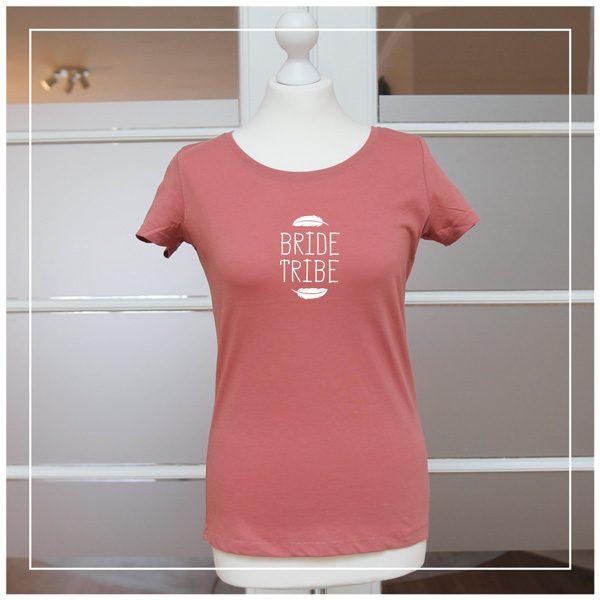 """Boho-T-Shirt """"Bride Tribe"""" mit weißem Aufdruck - JGA"""