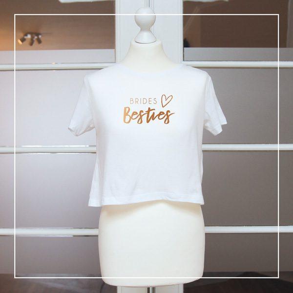 """Kupferdruck auf T-Shirt """"Brides Besties"""""""