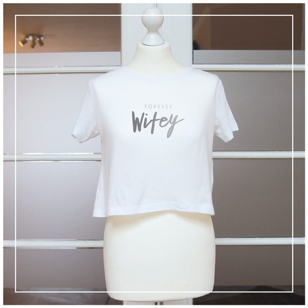 "Bridal Shirt ""Forever Wifey"" Silberdruck"