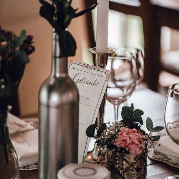 Getränkekarte für Tische zur Hochzeit