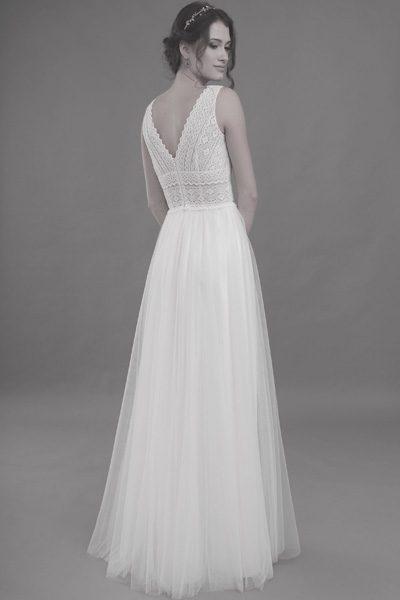ärmelloses Hochzeitskleid