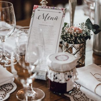 Aufsteller Hochzeitsmenü