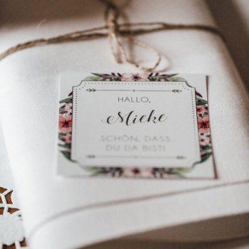 Namensschild - Platzkarte Hochzeit