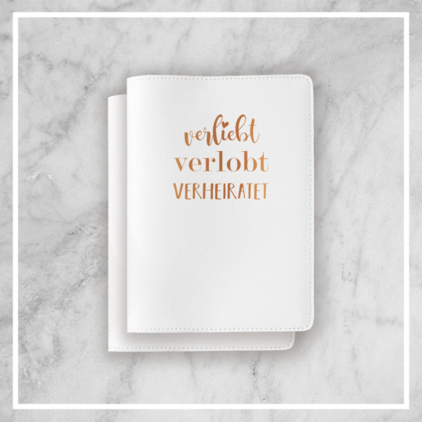 Geschenk zur Hochzeit - Hüllen für die Reisepässe