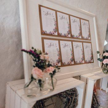 Tischplan Hochzeit - Wer sitzt wo?