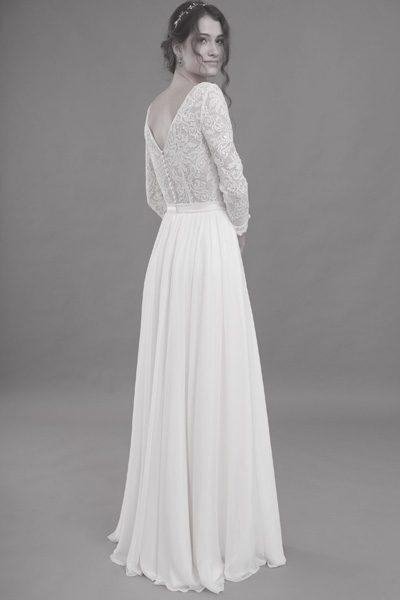 Vintage-Brautkleid, Seidenrock