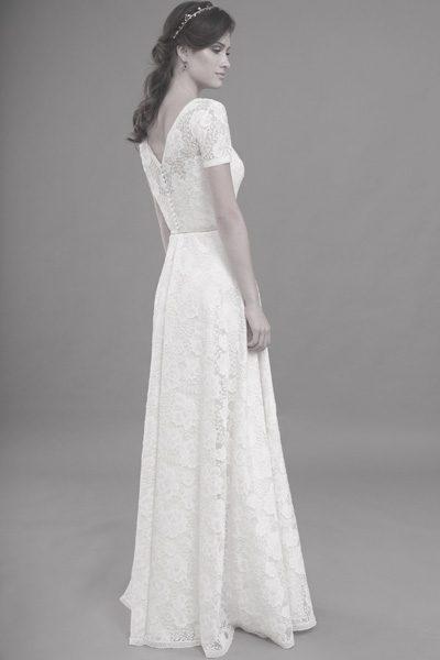 Hochzeitskleid - grobe blumige Spitze