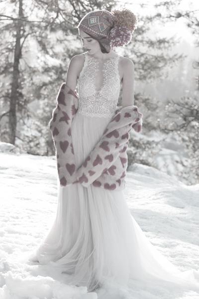 Hochzeitskleid mit Schlüsselloch-Ausschnitt