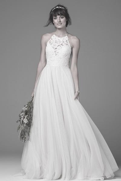 Neckholder Hochzeitskleid