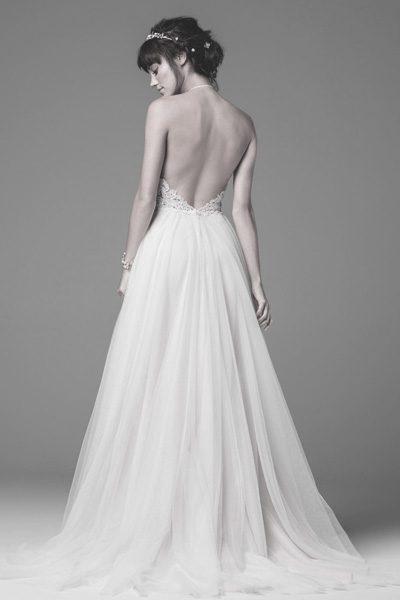 rückenfreies modernes Hochzeitskleid