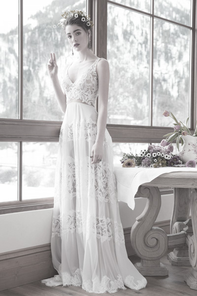 Hochzeitskleid im Hippie Stil