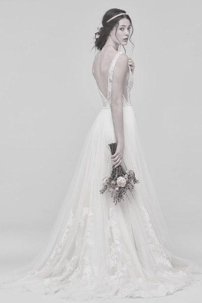 Hochzeitskleid mit Tattoo-Spitze