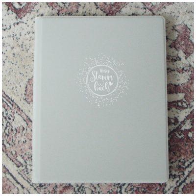 Schönes Stammbuch im A4 Format - grau