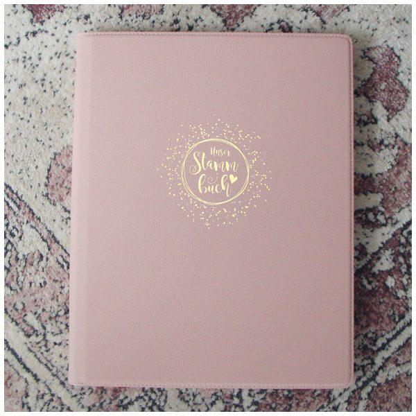 Schönes Stammbuch im A4 Format - rosa