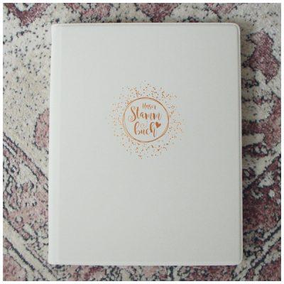 Schönes Stammbuch im A4 Format - weiß
