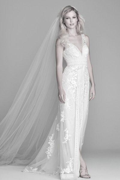 Brautkleid mit Spitze an den Kanten