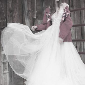 Brautkleid im Bohemian-Style
