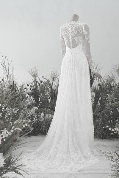 Langärmliges Vintage-Brautkleid