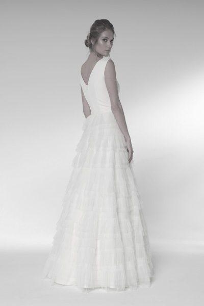 Hochzeitskleid mit Schichtrock